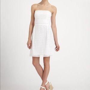 Laundry by Sheli Segal White Strapless Dress